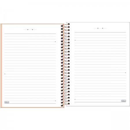 Caderno Happy Coral Com Pauta Colegial 1m 80 Folhas