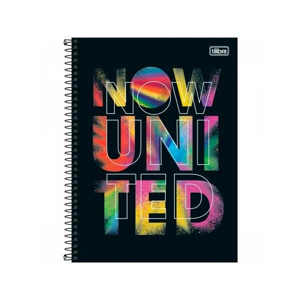 Caderno Now United Capa Dura Univ 1m 80f Preta Color