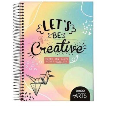 Caderno Sem Pauta Lets be Creative