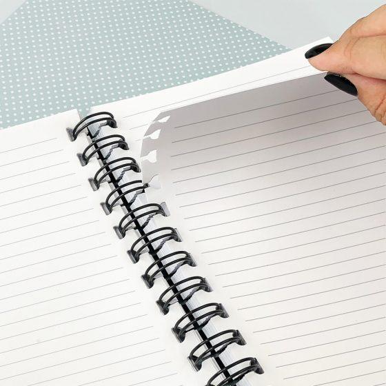 Caderno Smart Universitário All Black Folha Tira e Põe