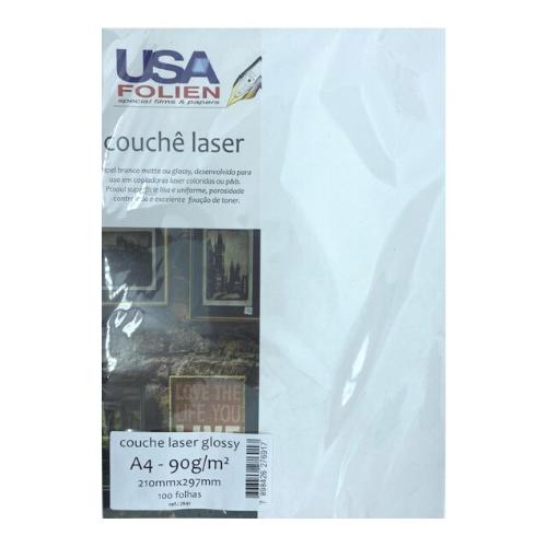 Couchê Laser Glossy C/ 100 Fls A4 90 G/m2