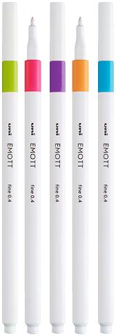 Caneta Emott Fine Nº 08 Estojo 0.4 Mm C/05 Cores