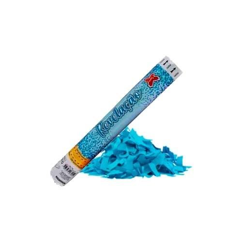 Lança Confete Azul Chá Revelação Menino 1Un.
