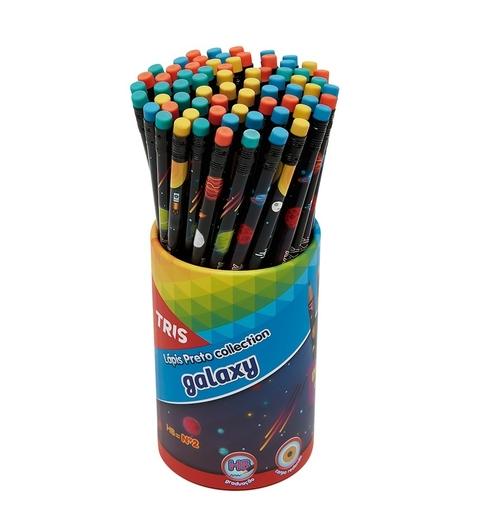 Lápis Preto Collection Galaxy Tris Com Borracha Redondo