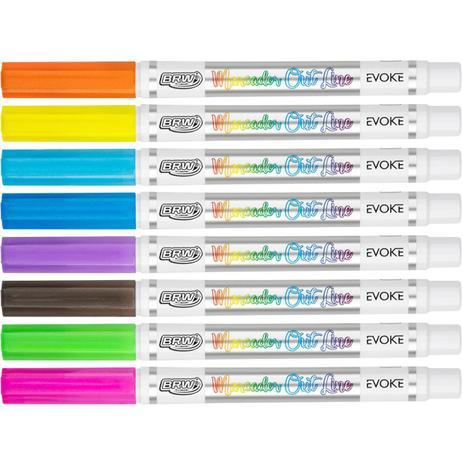 Marcador Artístico Evoke Outline 8 cores