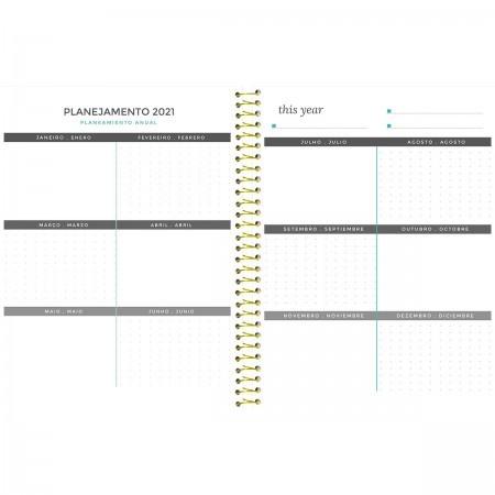 Agenda Planner Tie Dye 96 Fls Blah