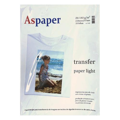 Transfer Paper Light C/ 10 Fls A4 140 G/m2