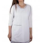 Avental básico frente e costa branco