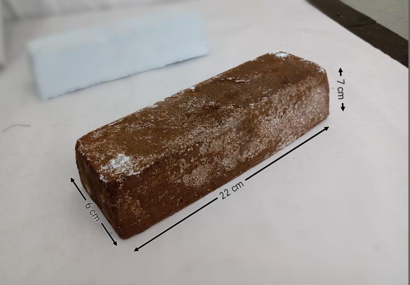Barra de polimento grossa marrom 1,40 Kg