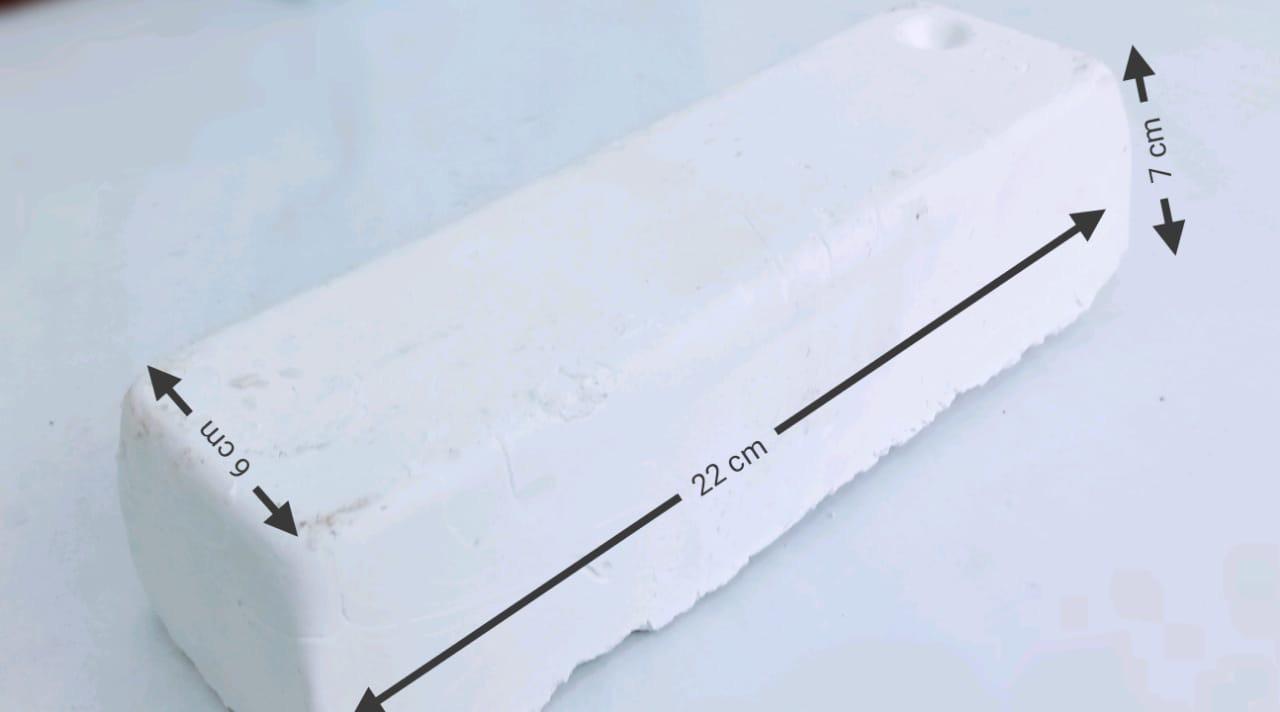 Barra de polimento muito fina branca alto brilho 1,40 Kg