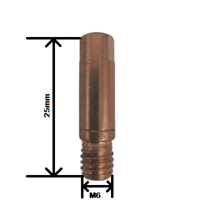 Bico de Contato M6x25mm  XA012 0,9mm