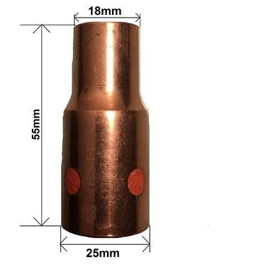 Bocal 18x55 Encaixe 25mm Rosca ME544