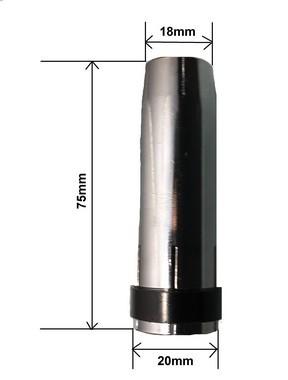 Bocal 18x75 Encaixe 22mm Pressão ME513 Cônico