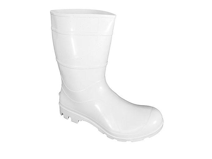Bota de PVC Branca Cano 30cm N 40