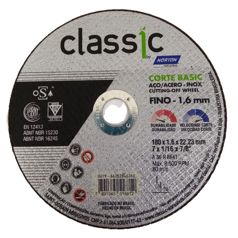 Disco de Corte 7x1,6 Norton Classic