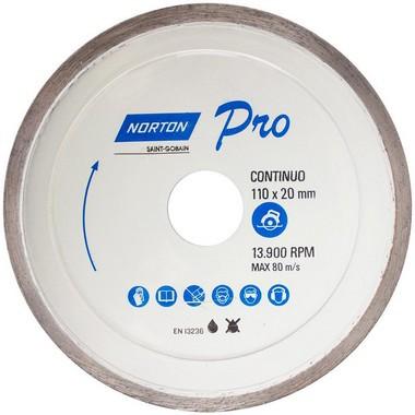 Disco diamantado 110X20 Pro continuo Norton