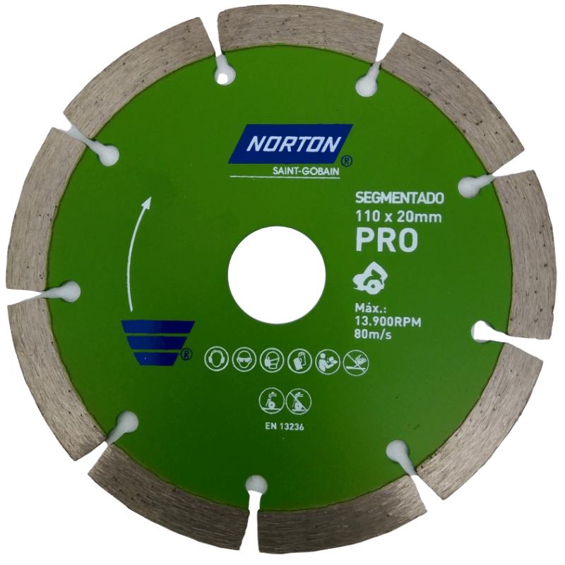 Disco diamantado 110X20 Pro segmentado Norton