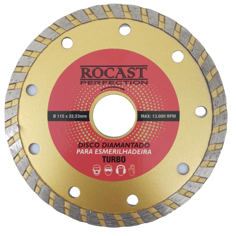 Disco Diamantado 4.1/2 para esmerilhadeira Rocast Turbo