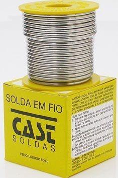 Estanho em Fio 50X50 10A 2,4mm 500gr Cast Metais