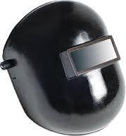 Máscara de solda de Celeron com visor fixo e carneira com catraca Carbografite