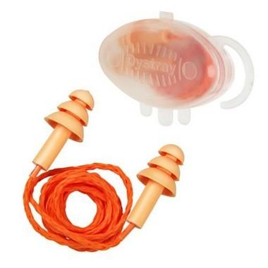Protetor auricular de silicone com cordão