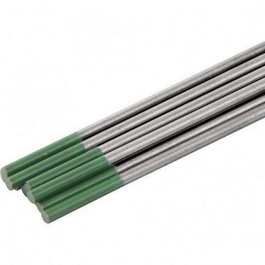 Tungstênio puro 3,18mm verde para alumínio