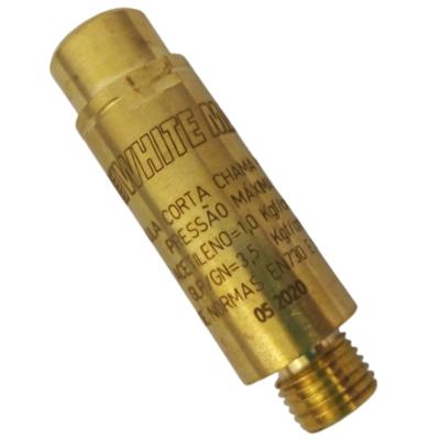 Válvula corta fogo para regulador Ace/GLP White Martins