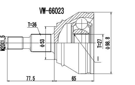 Homocinética Audi A3 1.8 T / Audi TT 1.8 S/Abs 27 x 36