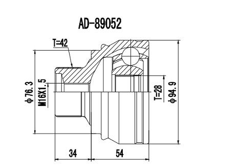 Homocinetica Audi A4 2.0 Turbo Automático 42x28