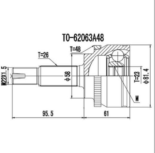 Homocinetica Corolla / Fielder 1.8 C/Abs Automatico 26x23