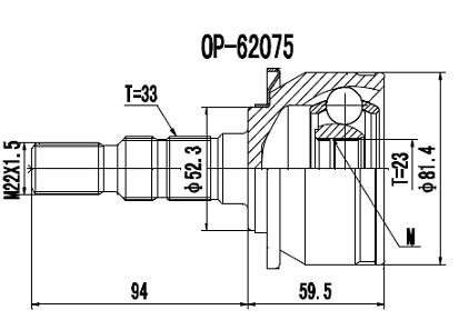Homocinética Cruze 1.8 Manual e 1.4 Turbo Automático 23 x 33