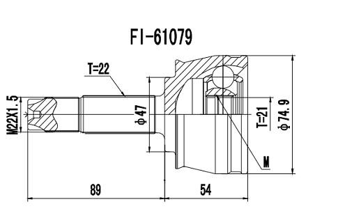 Homocinética Fiat Idea 1.4 8V Fire 2003... 21 x 22