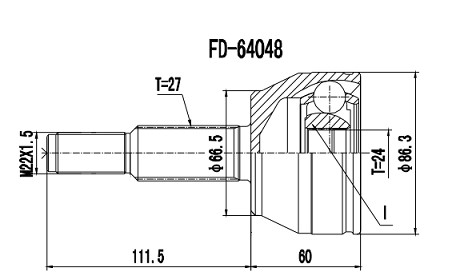 Homocinética Ford Ranger 3.0 Xl/Xlx Eletronic 4x4 24x27