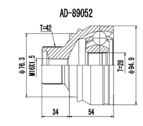 Junta Homocinetica Audi A4 2.0 Turbo Automático 42x28