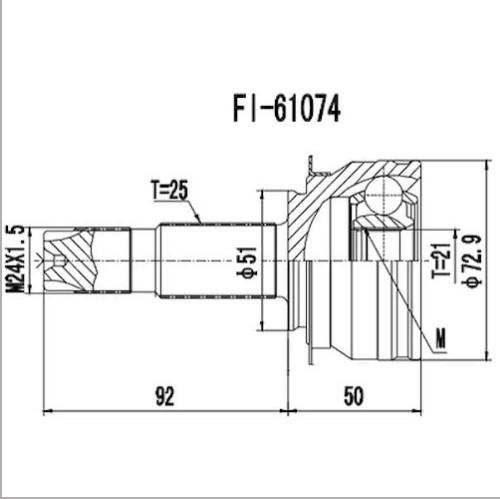 Junta Homocinetica Cobalt 1.4 8V Manual 25x21