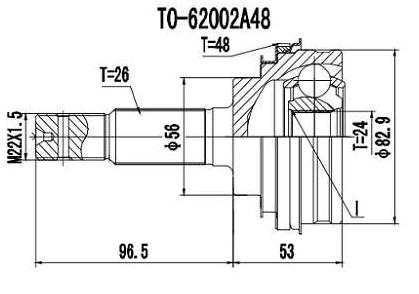 Junta Homocinetica Corolla 1.6/1.8 C/Abs 1999 a 2001 26x24