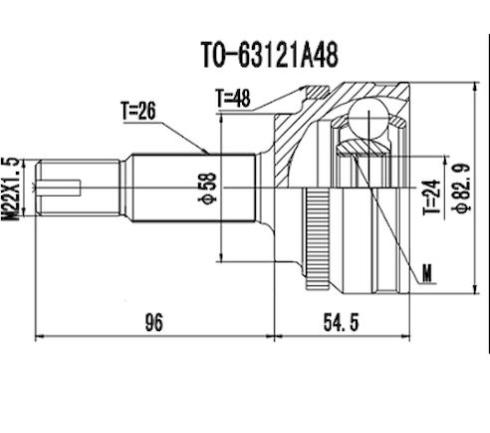 Junta Homocinetica Corolla 2.0 16V C/Abs Manual/Aut. 09/14 26x24