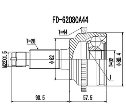 Junta Homocinetica Fusion 2.3 / 2.5 com Abs 28x32