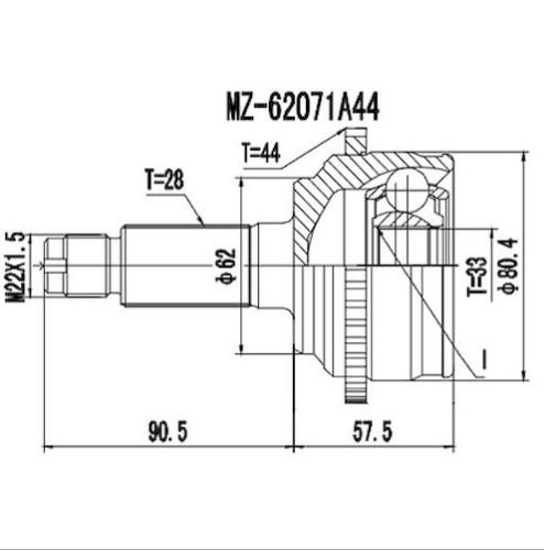 Junta Homocinetica Fusion 3.0 V6 C/Abs Automático 28x33