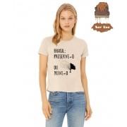"Camiseta Ecológica - ""BRASIL: Preserve-o ou deixe-o"""