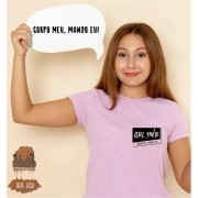 """Camiseta Ecológica - """"Corpo Meu, Mando Eu!"""""""