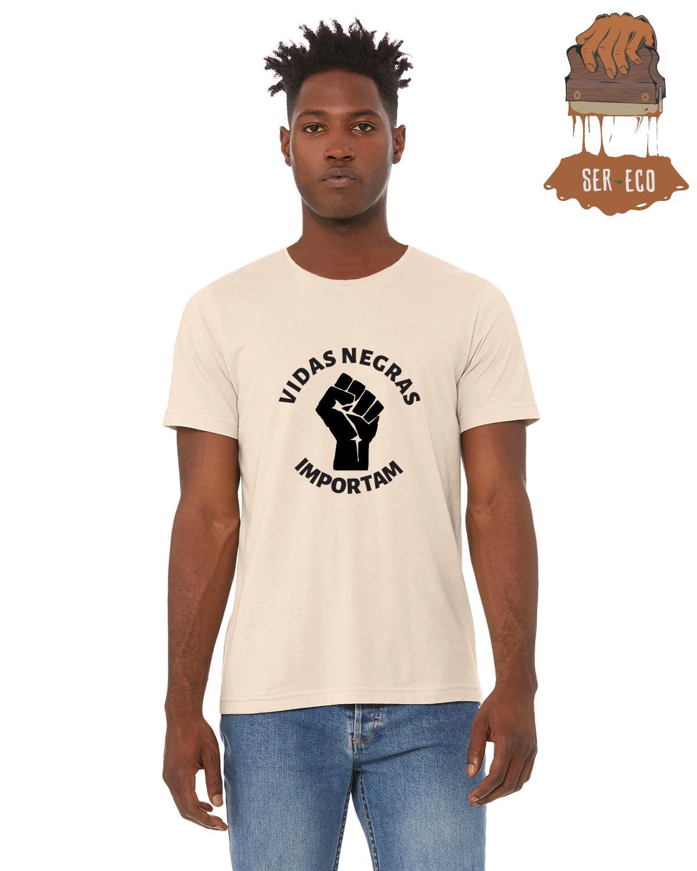 """Camiseta Ecológica - """"Vidas Negras Importam"""""""