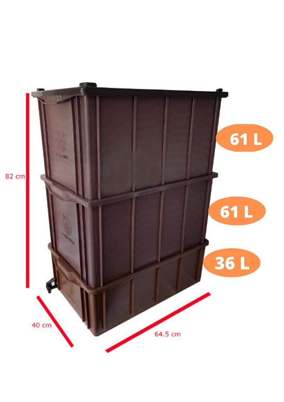 Composteira Doméstica - G (para 4 ou 5 pessoas)