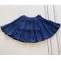 Saia Simone tricot azul marinho