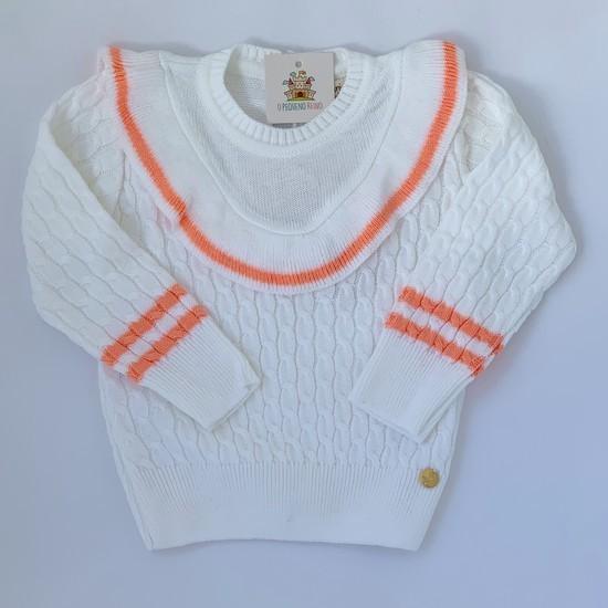 Blusa Frufruzinho tricot branca