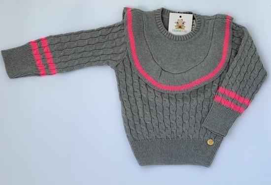 Blusa Frufruzinho tricot cinza