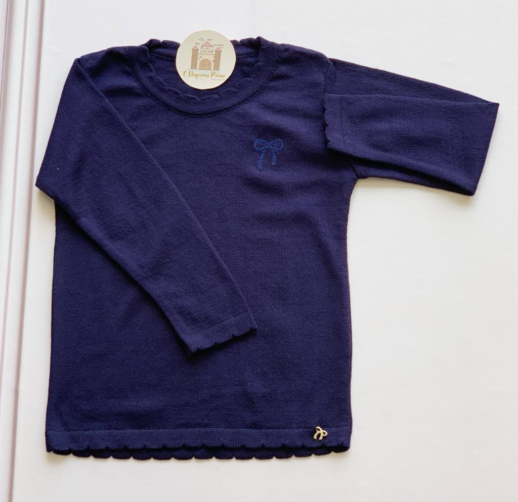 Blusa Tricot Lia Azul Marinho