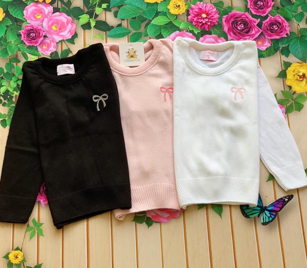 Blusa tricot Lia (Rosa, Branca e Preta)
