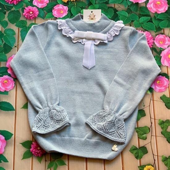 Blusa Tricot Mia (Azul e Branca)
