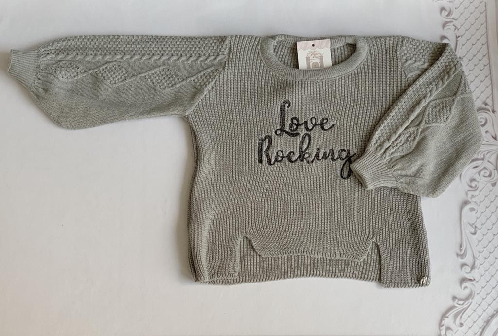 Blusa tricot Olivia cinza